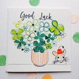 Katie Phythian Shamrock Good Luck Card