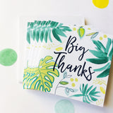 Katie Phythian Leafy Big Thanks Thank you Notecard Set