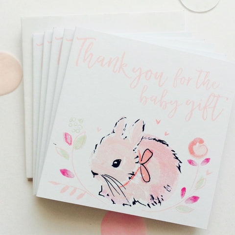 Katie Phythian Thank You Baby Girl Notecard Set