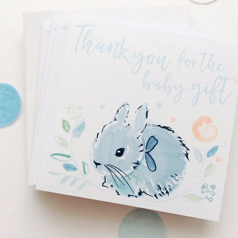 Katie Phythian Thank You Baby Boy Notecard Set