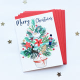 Katie Phythian Merry Christmas Tree Card Pack