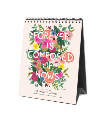 Rifle Paper Co. 2019 Inspirational Quotes Desk Top Calendar