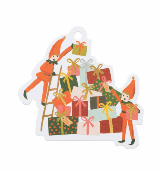 Rifle Paper Co. Elves Die Cut Christmas Gift Tags