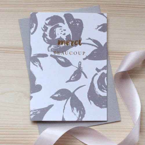 Studio Seed 'Merci Beaucoup' Foiled Notecard Set