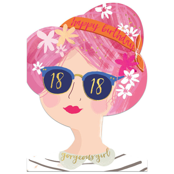 Winged Hat 18th Birthday Girl Card