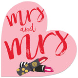 Winged Hat Mrs and Mrs Lipstick Wedding Card