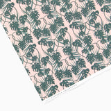 Tuppence Collective Pink Tropical Palm Patterned Wrapping Paper Sheet