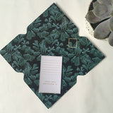 Tuppence Collective Botanical Blue Leaf Telegram Card
