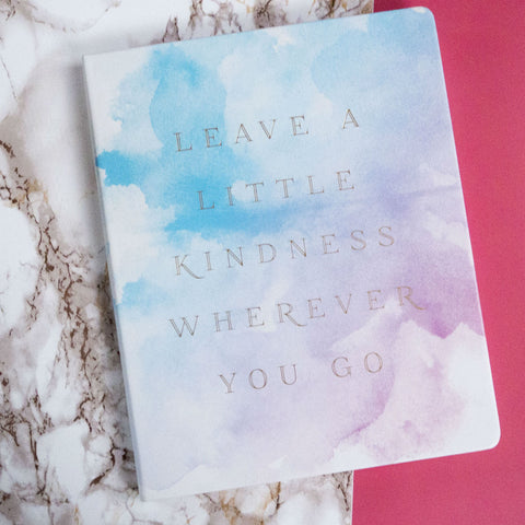 Èccolo World Traveler Watercolour Leave a Little Kindness Journal