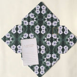 Tuppence Collective Vintage Floral Green Telegram Card
