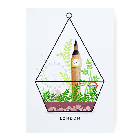 Duke & Rabbit London Terrarium Art Print