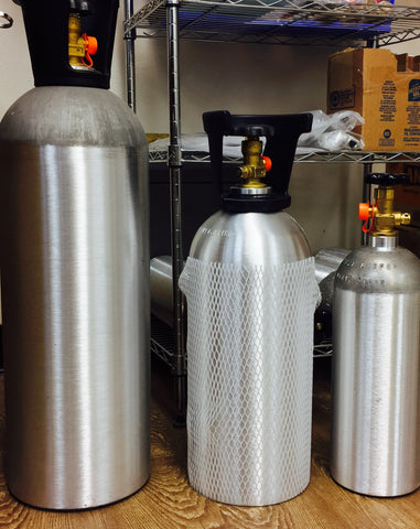 10 lb Aluminum CO2 Cylinder with handle