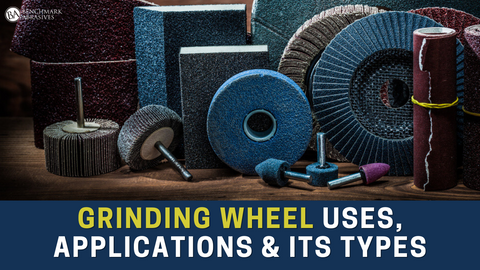 What are the types of grinding wheels