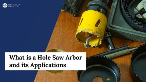 What is a hole saw arbor and its applications