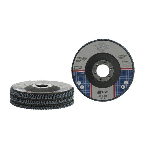 "4-1/2"" x 7/8"" T29 Zirconia Flap Disc - 1000 pieces"