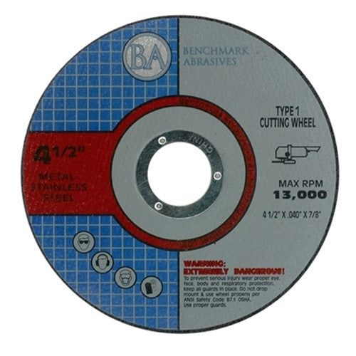 "4 1/2"" x .040 x 7/8"" T1 Premium Thin Cut-off Wheel - 2000 pieces"