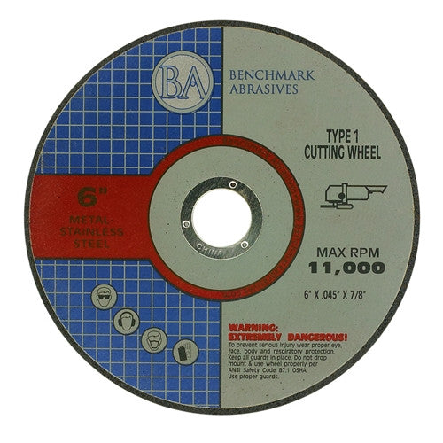 "6"" x .045 x 7/8"" T1 Premium Thin Cut-Off Wheel - 1500 pieces"