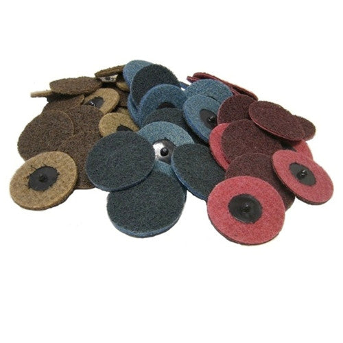 """25 Pack 3/"""" Roloc Surface Conditioning Quick Change Sanding Discs Coarse"""