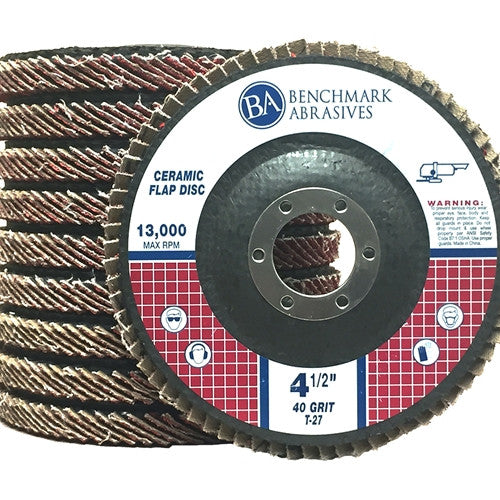 "4-1/2"" x 7/8"" T27 Ceramic Flap Disc - 1 Piece"
