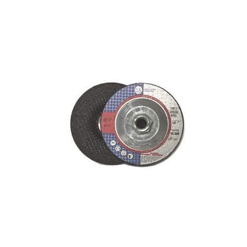 "4 1/2"" x 1/4"" x 5/8-11"" T27 Hub Depressed Center Grinding Wheel - 10 pack"