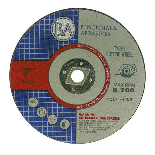 "7"" x 1/8"" x 5/8""-DIA T1 Premium Cut-Off Wheel - 10 pack"