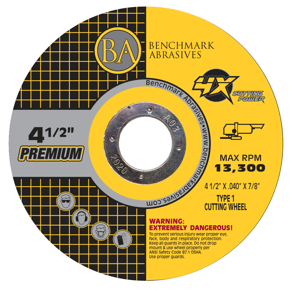"High Performance 4X Ceramic Cutting Wheels  4-1/2"" X .040 X 7/8"""