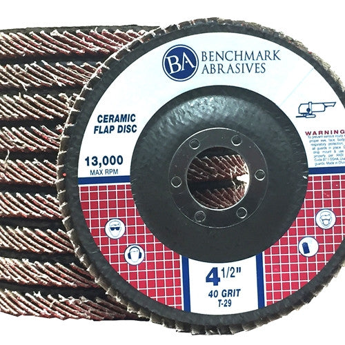 "4 1/2"" x 7/8"" T29 Ceramic Flap Disc - 1 Piece"