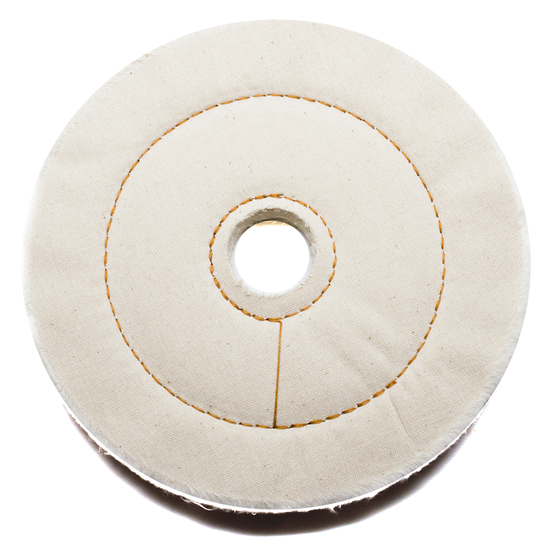 "6"" x 1/2"" x 1"" Cotton Cushion Sewn Buffing Wheel"