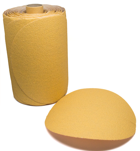 "6"" Discs on a Roll PSA Gold DA Sanding Paper"