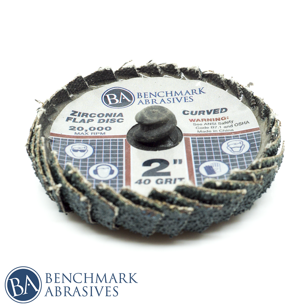 "2"" Curved Quick Change Zirconia Flap Discs"