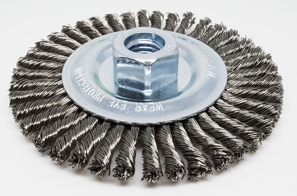 "4-1/2"" Stringer Bead Wire Wheel - Stainless Steel"