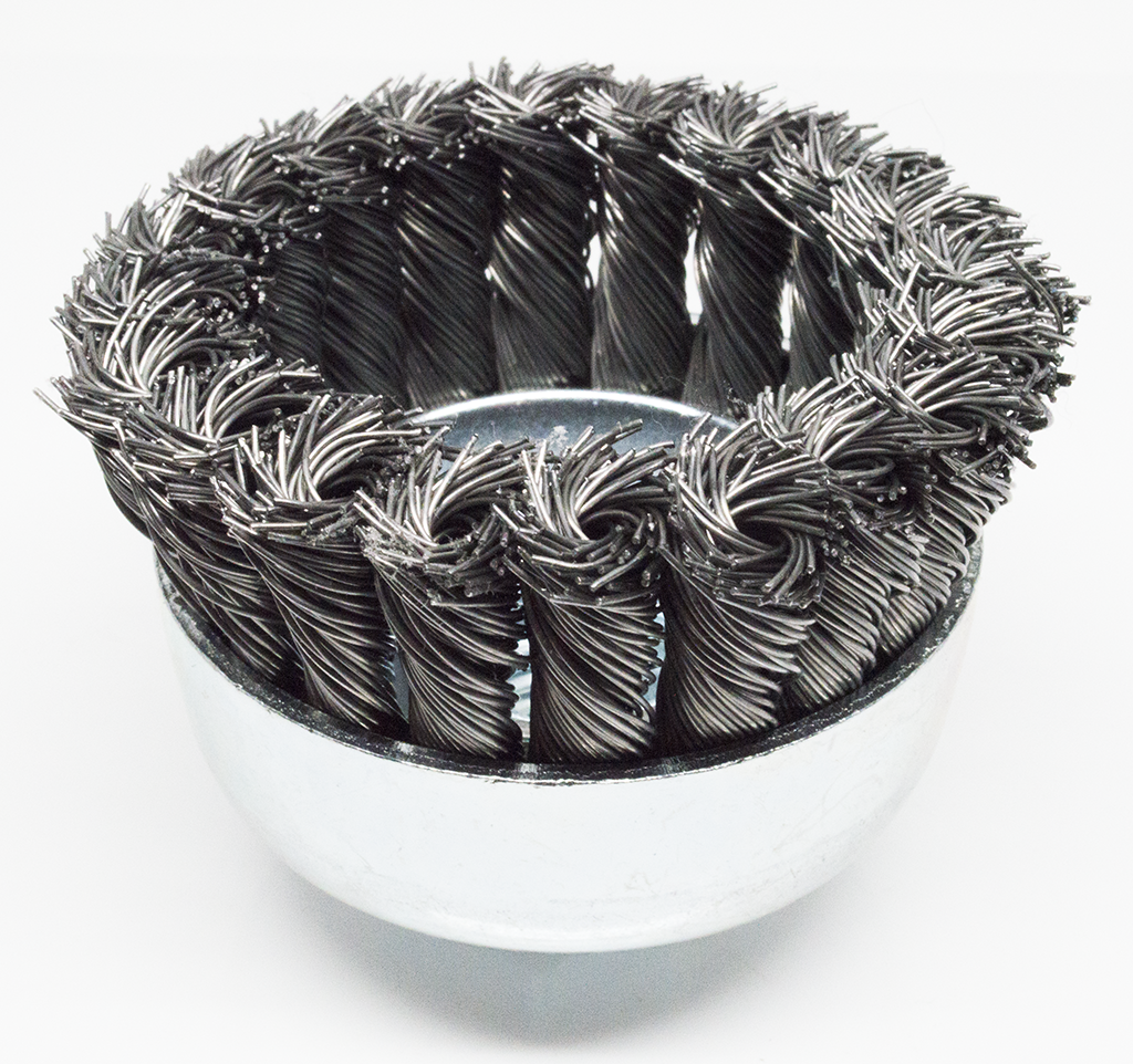Carbon Steel Twist Knot Cup Brush