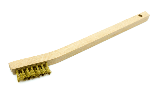 Welders Toothbrush Wire Scratch Brush - Brass