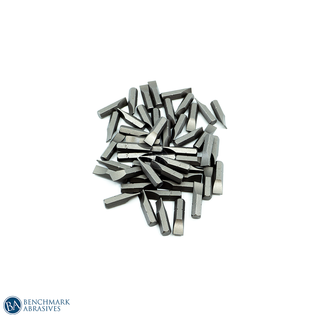 "7mm x 1"" Slotted Insert Bit - 10 Pack"