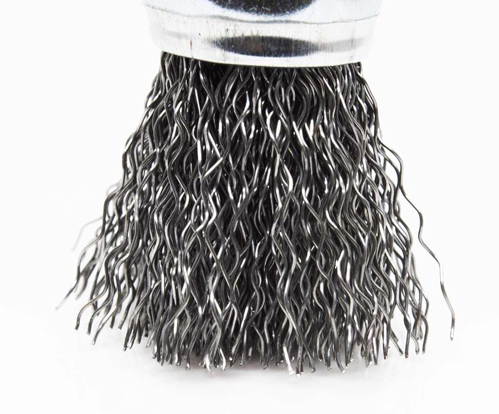 "3/4"" Crimped Wire End Brush - Carbon Steel Wire"