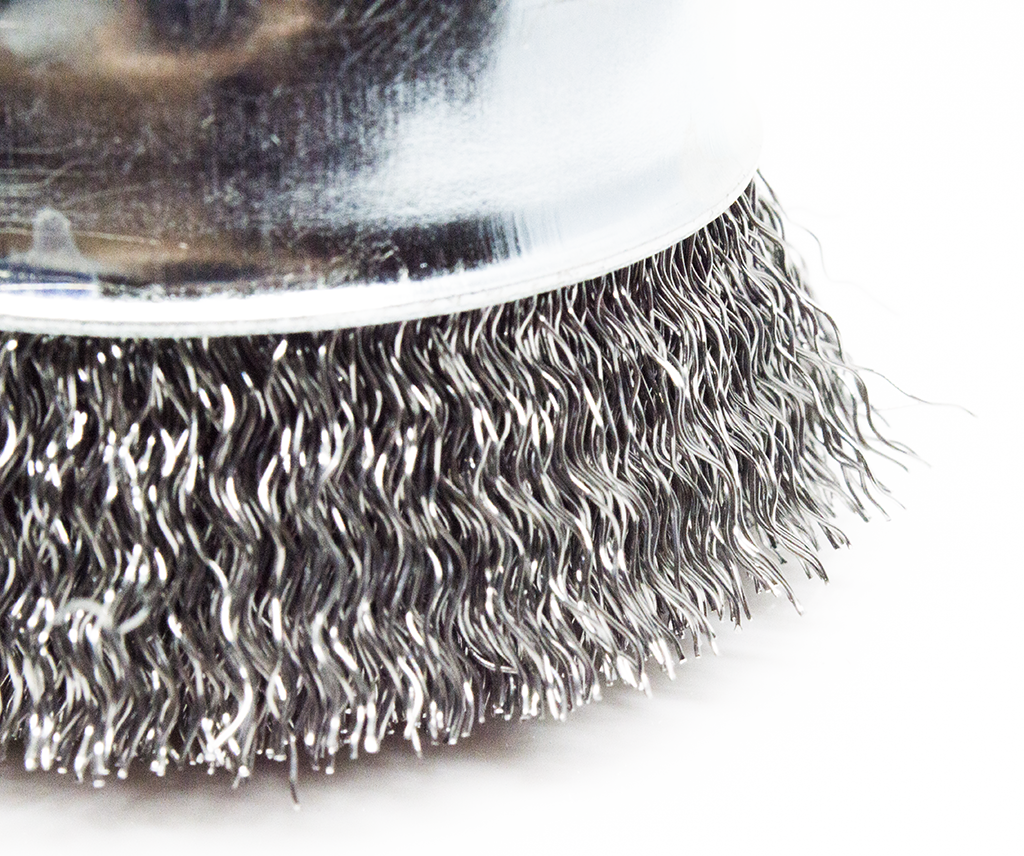 "2-3/4"" x 5/8""-11 Crimped Cup Brush - Carbon Steel"