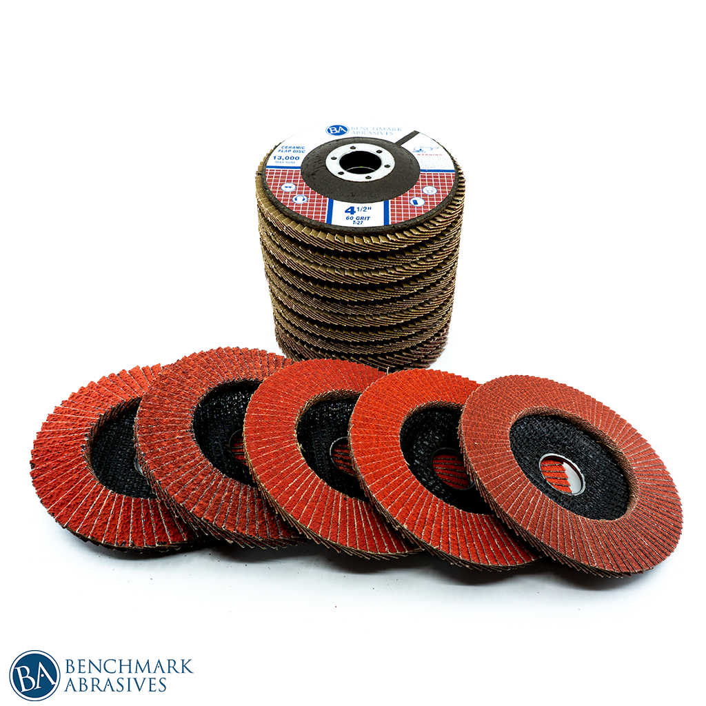 Mixed Grit 10 Pack Of Ceramic Flap Disc