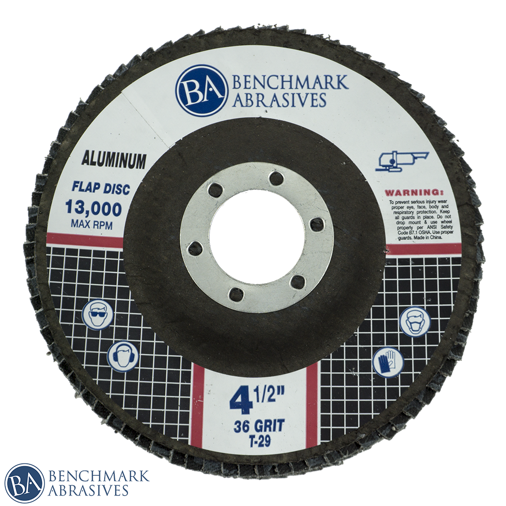 "Flap Disc for Aluminum 4-1/2"" x 7/8"""