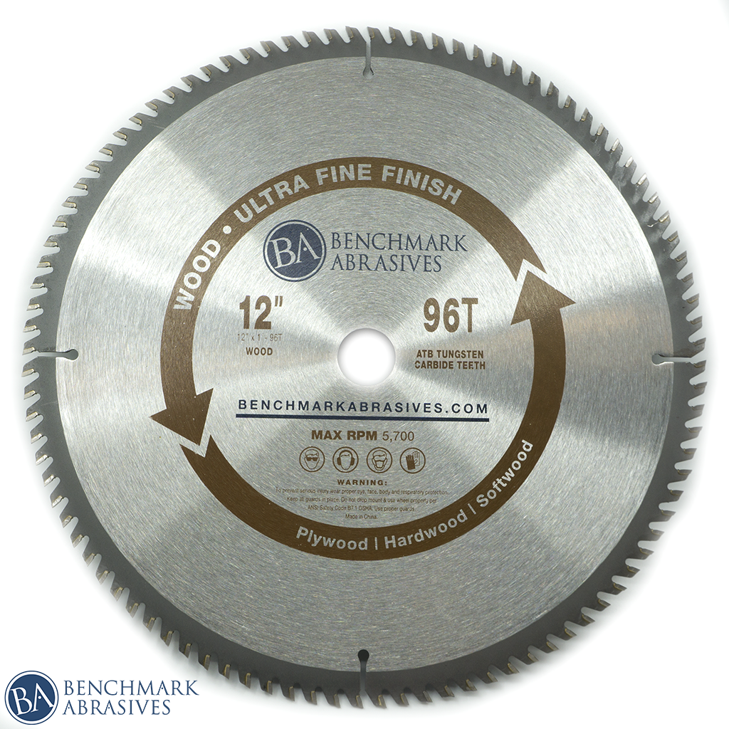 "12"" 96 Tooth TCT Saw Blade for Fine Finishing"