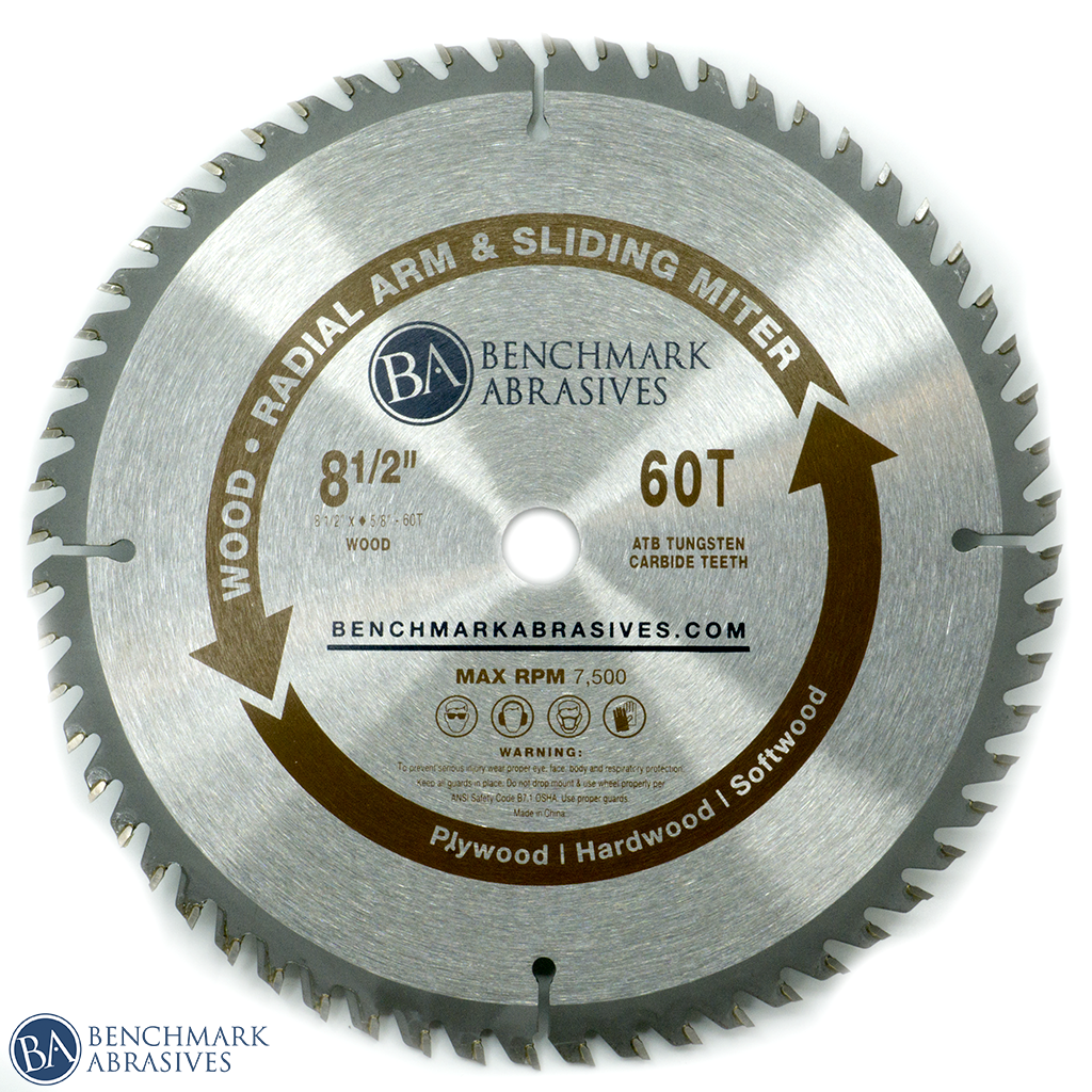 "8-1/2"" 60 Tooth TCT Saw Blade for Finishing - Sliding Miter & Radial Saw"