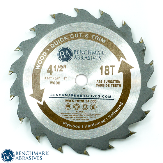 "4-1/2"" 18 Tooth TCT Saw Blade for Fast Cutting & Trimming"