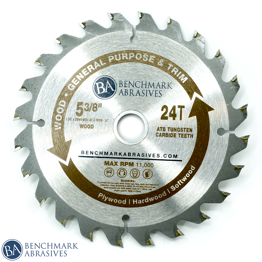 "5-3/8"" 24 Tooth TCT Saw Blade for General Purpose Cutting & Trimming"