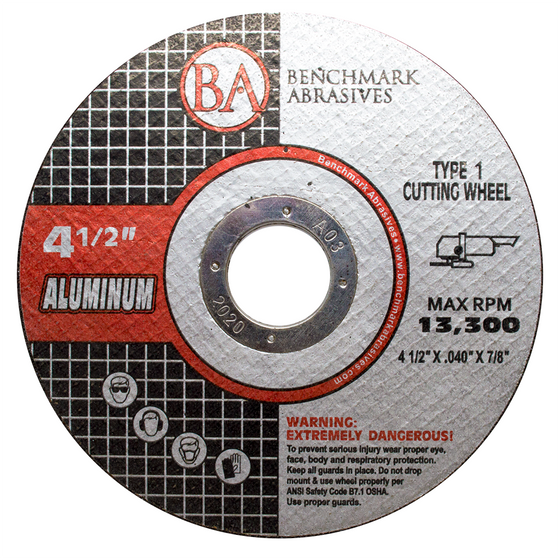 "4 1/2"" x .040 x 7/8"" T1 Thin Cut-off Wheel for Aluminum - 25 pack"