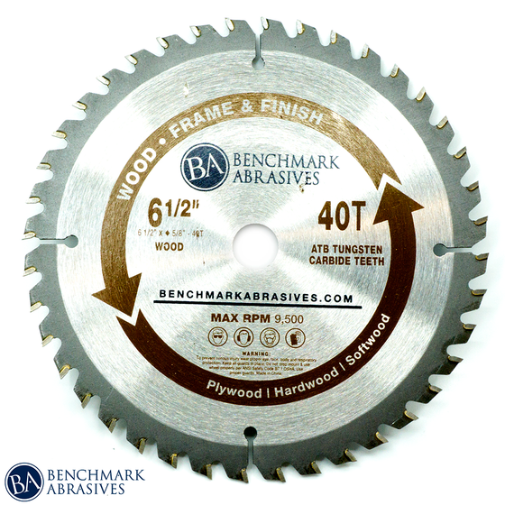 "6-1/2"" 40 Tooth TCT Saw Blade for Finishing & Framing"