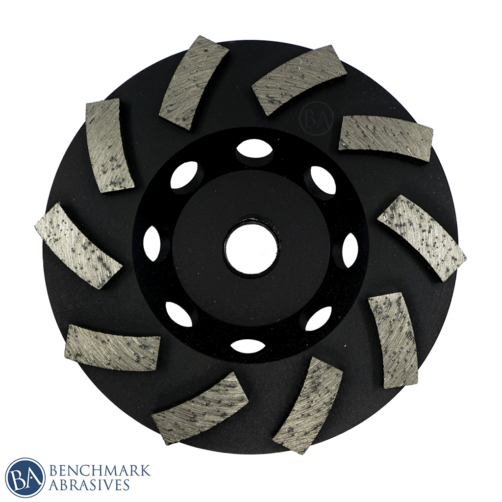 4-Inch Diamond Cup Wheel with Swirl Turbo Segments