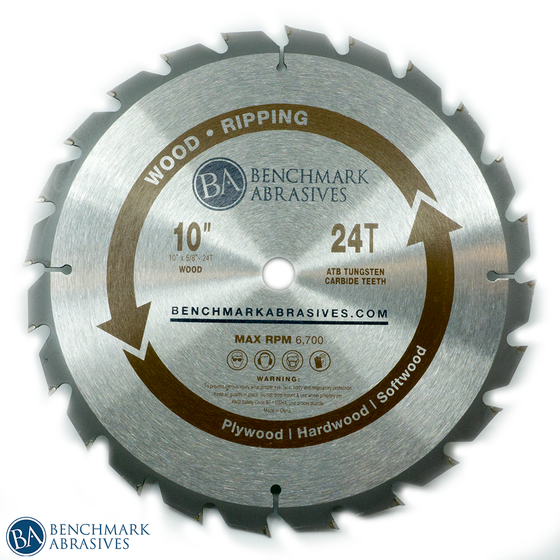 "10"" 24 Tooth TCT Saw Blade for Ripping"