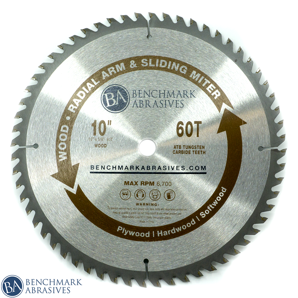 "10"" 60 Tooth TCT Saw Blade for Finishing - Sliding Miter & Radial Saw"