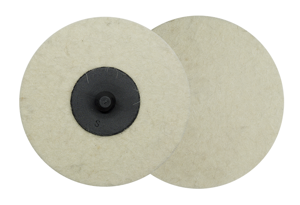 "3"" Felt Polishing Quick Change Discs - 10 Pack"