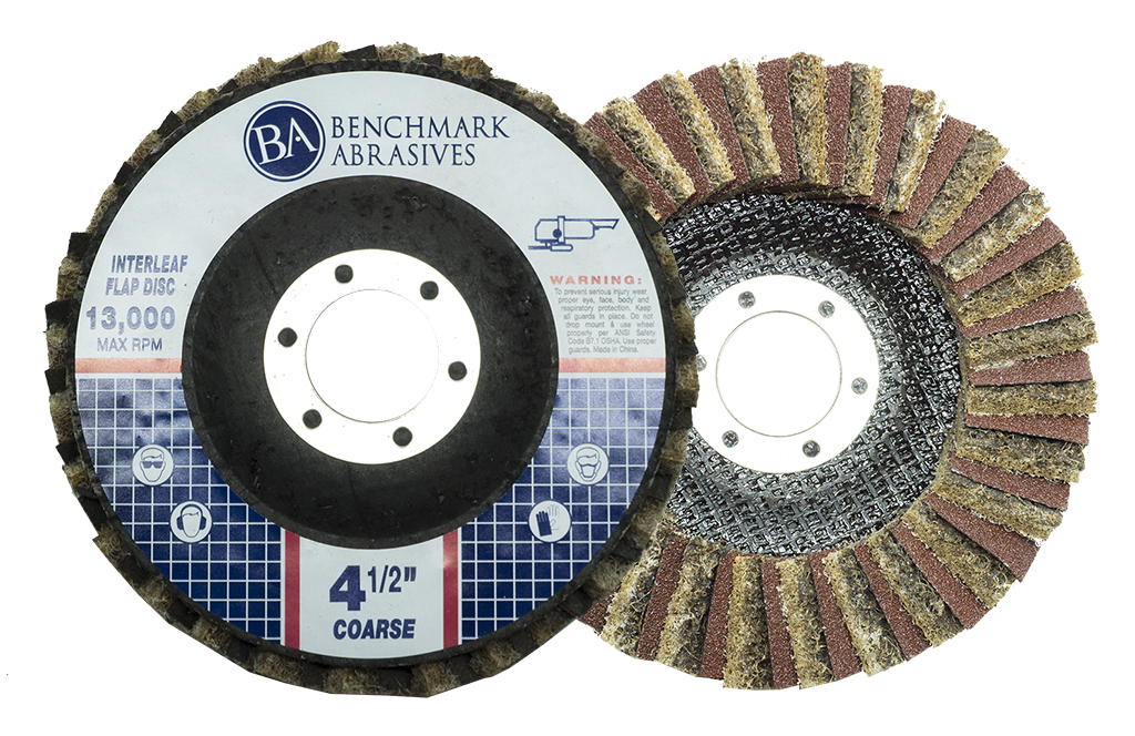 "4-1/2"" x 7/8"" Interleaf Flap Disc Type 27 (Flat Face) - 1 Piece"