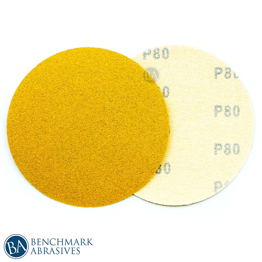 "5"" Gold A/O No Hole Hook & Loop Discs - 50 Pack"